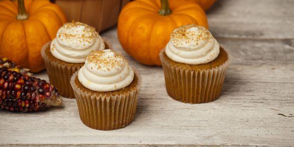 Kürbis Gewürzkuchen Halloween Muffins